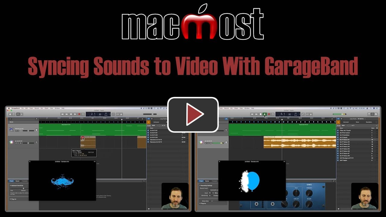 Syncing Sounds to Video With GarageBand
