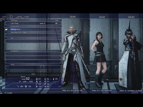 Final Fantasy XV PC - Permanent Ravus, Aranea, Iris Showcase (Windows Edition)