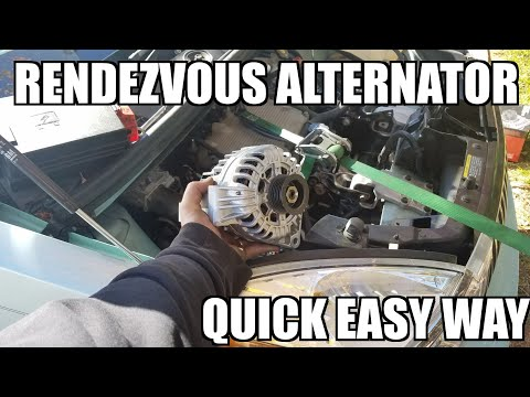 "Alternator replacement for Buick Rendezvous ""How to"""