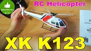 ✔ XK K123 Радіокерований 3D вертоліт. AS350 Scale RC Helicopter Banggood
