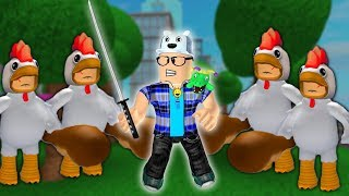 ROBLOX: THE CITY HAS BEEN INVADED BY NINJA CHICKENS! -Play Old man