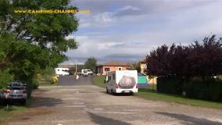 Camping Le Soleil Fruité in Chateauneuf sur Isere, Rhone-Alpes (Frankreich) Mai 2017