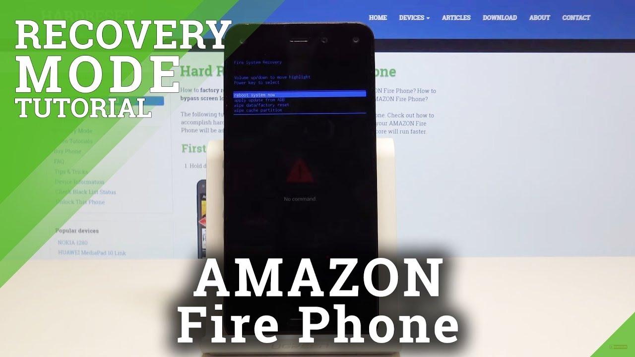 Recovery Mode AMAZON Fire Phone - HardReset info