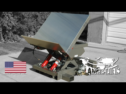 Air Powered Scissor Lift & Tilt with Fork Pockets | 4,000 Pound Capacity