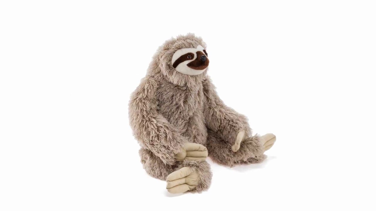 Cuddlekins Jumbo Sloth Plush Stuffed Animal 360 View Wild Republic