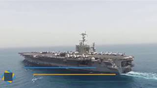 Впечатляющее видео авианосной ударной группы ВМФ США идущей к Сирии