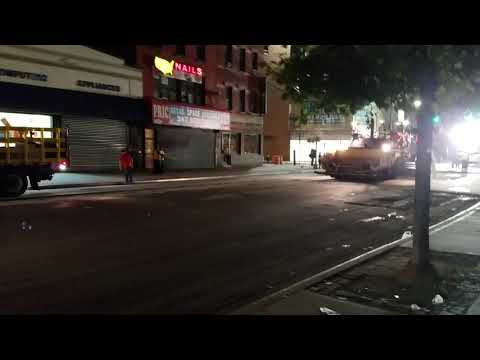 NYC DOT Performing Road Resurfacing Work In The South Bronx, New York