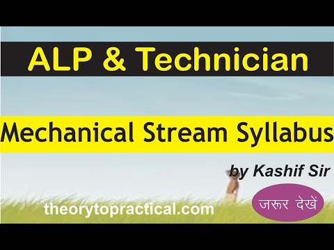 Mechanical Stream Syllabus  for Alp & Technician