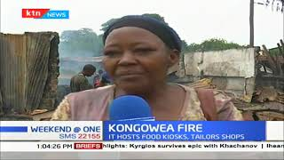 Mysterious fire destroy part of Kongowea Market in Mombasa, traders counting huge losses