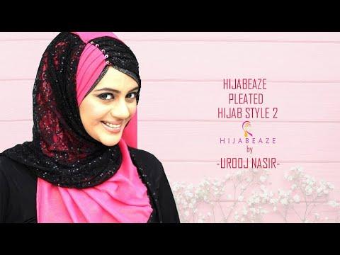 Hijabeaze Pleated Hijab Style 2 Urooj Asif - YouTube
