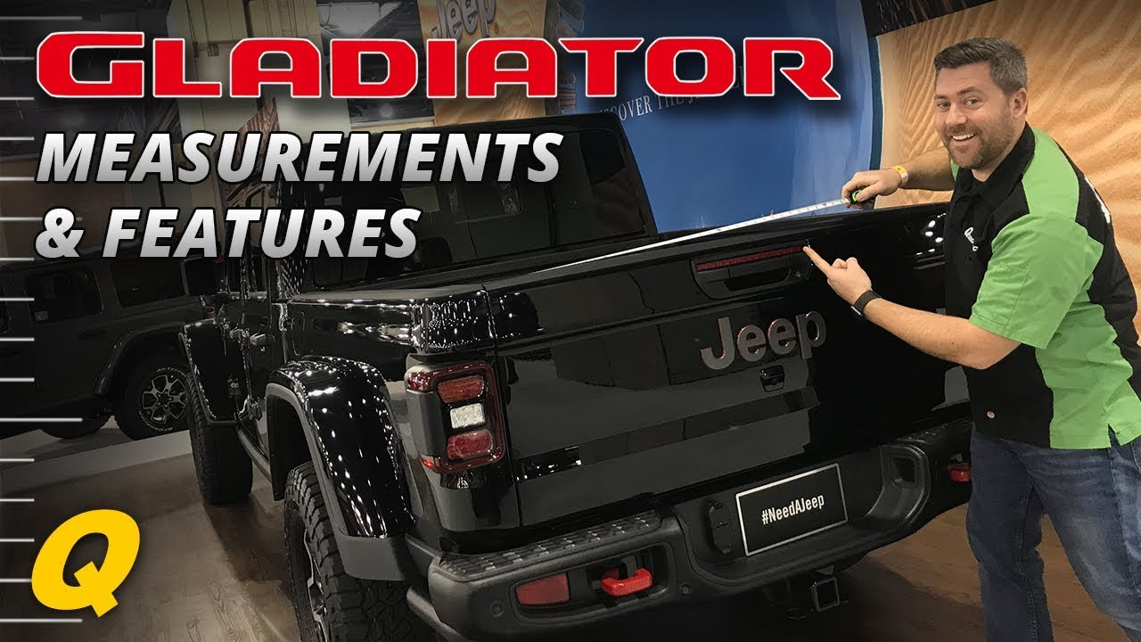 Jeep Gladiator Bed Dimensions & Features - Closer Look ...