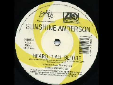 Sunshine Anderson - Heard It All Before (Dance Remixes) Ben Watt & E-Smoove