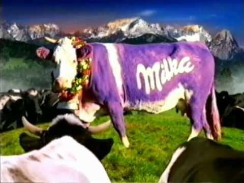 Milka Werbung lila Kuh 1998