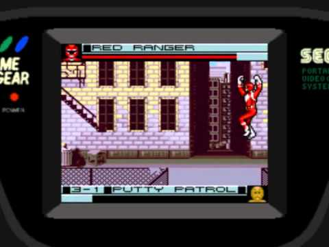 Let's Play Mighty Morphin' Power Rangers (Game Gear) #01 - Angel Grove Smackdown
