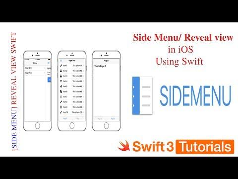 Swift Side Menu In iOS | Swift hamburger menu | Swift