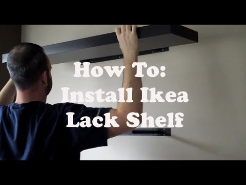 Install An Ikea Lack Shelf Youtube