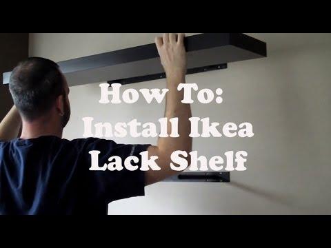 Latest Install An Ikea Lack Shelf With Ikea Boekenplank