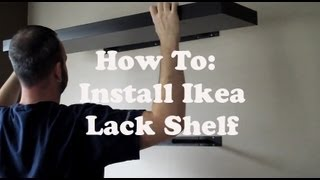Install an Ikea Lack Shelf