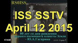 SSTV Images from the International Space Station