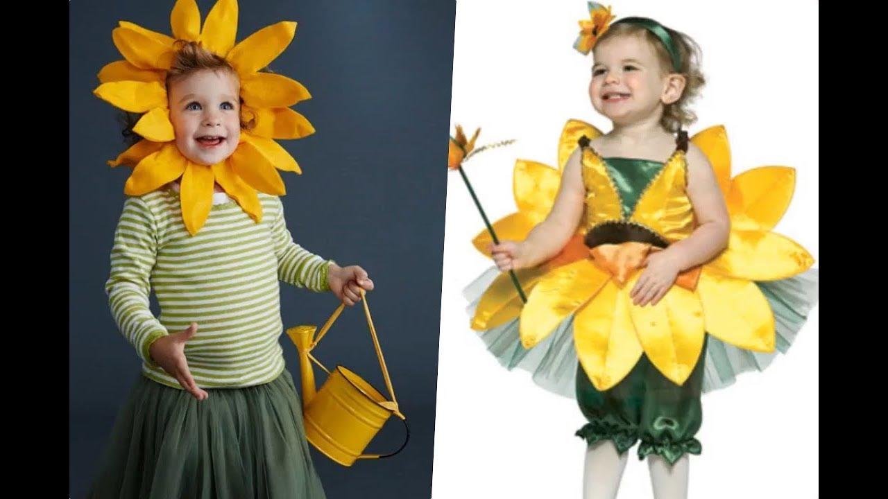 93f6ada93 Disfraces de flores para niñas para primavera - YouTube
