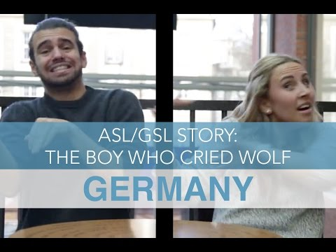 American Sign Language VS German Sign Language Story: The Boy Who Cried (Germany)