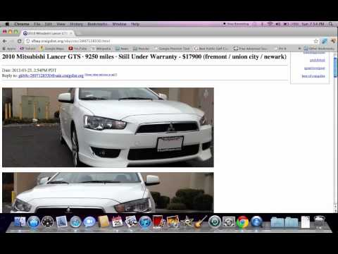 Craigslist SF Bay Area Used Cars - Tutorial Video with Search Details
