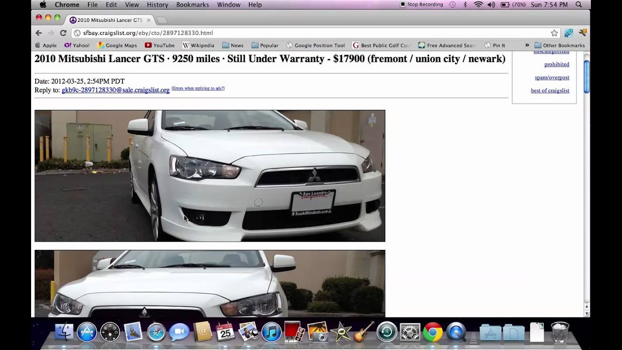 Craigslist Sf Bay Area Used Cars Tutorial Video With Search