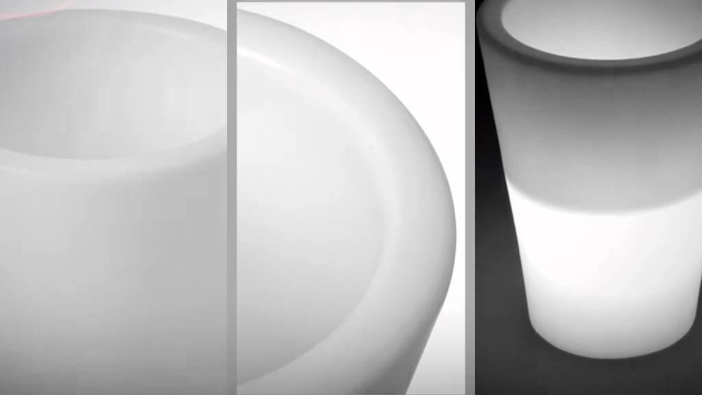 LED Pflanzkübel Kegel klein von myfab - YouTube