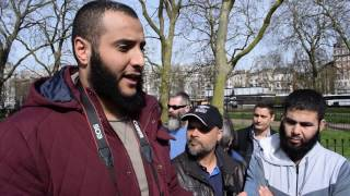 P1 - Tall Tales! Mohammed Hijab & Hashim vs Christian lady | Speakers Corner