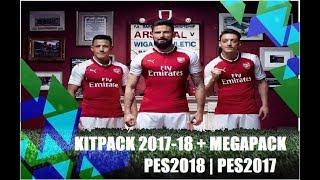 KITPACK 2017-18 + MEGAPACK PES2018 | PES2017