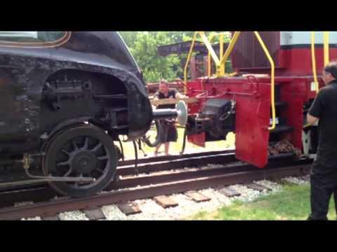 Dwight D. Eisenhower locomotive bound for England