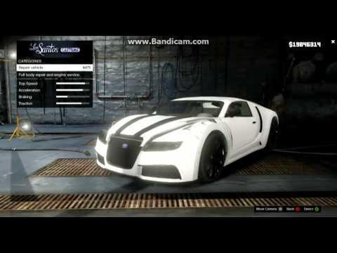 Gta 5 Bugatti Fully Customized Gameplay!