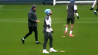 Man City Players Train Ahead of PSG Champions League Semi-Final Clash