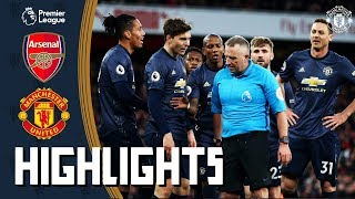 Highlights | Arsenal 2 0 Manchester United | Premier League