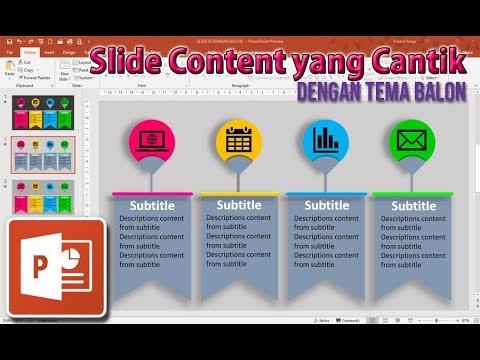 Cara Membuat Isi Slide Presentasi Powerpoint Yang Menarik Dengan Tema Balon