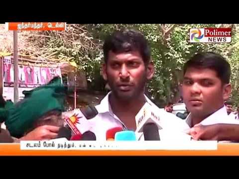 Delhi Jantar Mantar Farmers Protests - Tries to committ suicide | Polimer News