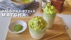 Dalgona Matcha | Dalgona Style Matcha Recipe | Non-Dairy Matcha Cream