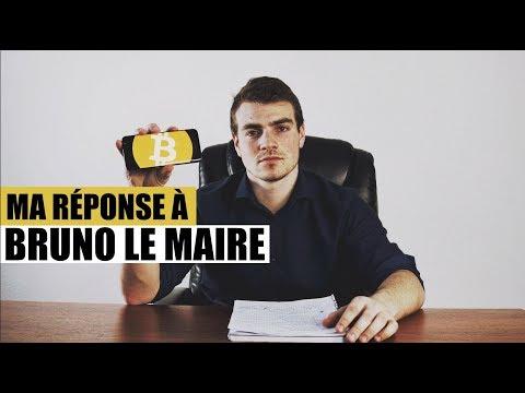 Ma réponse au ministre de l'Économie, Bruno Lemaire - Régulation du Bitcoin