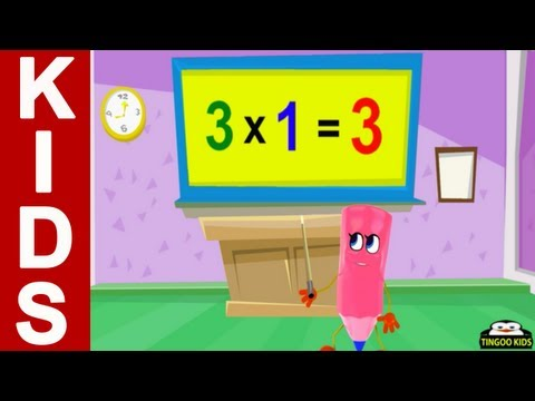 Home School Math | 3 Times Table Song | Kids Songs With Lyrics (Math Tutorial In English)
