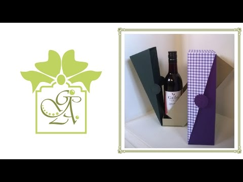 Small Wine Bottle Drop Sided Box © (Wine Holder - Gift Box Tutorial)
