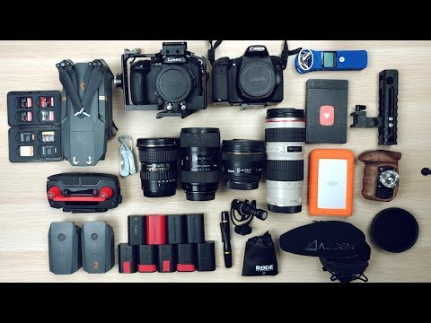 WHAT'S IN MY CAMERA BAG ? // Mon Set-up Tournage !