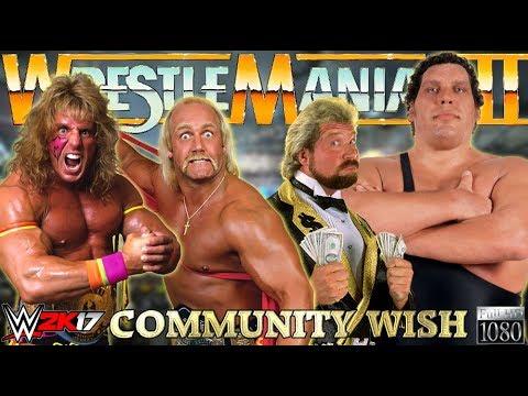 WWE 2K17 GAMEPLAY: Hulk Hogan & Ultimate Warrior VS. Mega Bucks   Community Wish Match