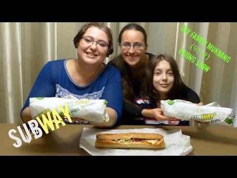 Subway Sandwiches Mukbang: Applewood Pulled Pork,  Prime Rib Swiss Melt And BLT