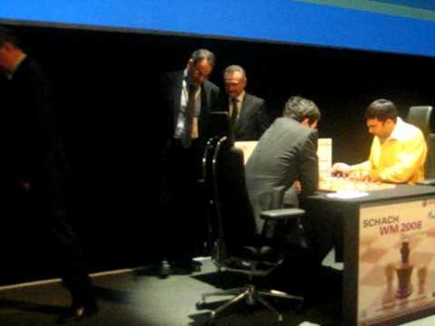 Peer Steinbrueck makes opening move for Kramnik in Game 8