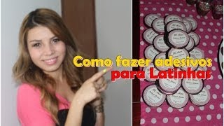 Como Fazer Adesivos para Latinhas #CeFV #EspecialDeAniversário