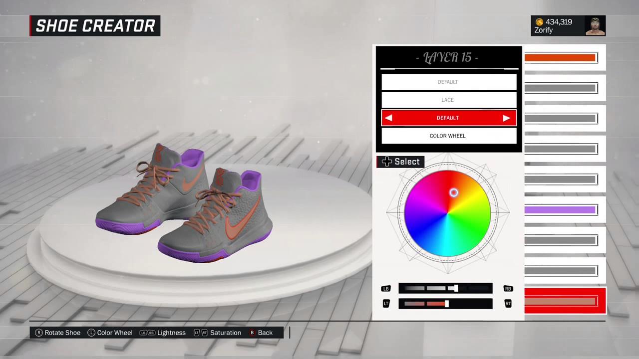 various colors 3cdd0 82eea NBA 2K17 Shoe Creator - Nike Kyrie 3 Custom