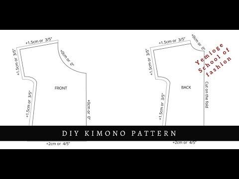 Download kimono Blouse Pattern