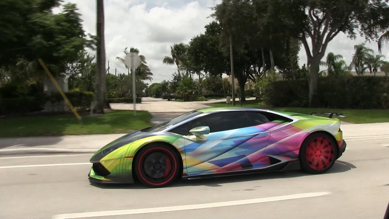 World S Craziest Wrapped Lamborghini Huracan On Goldrush Rally