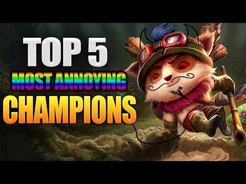 Top 5 Most Annoying Champions In League Of Legends WIld Rift
