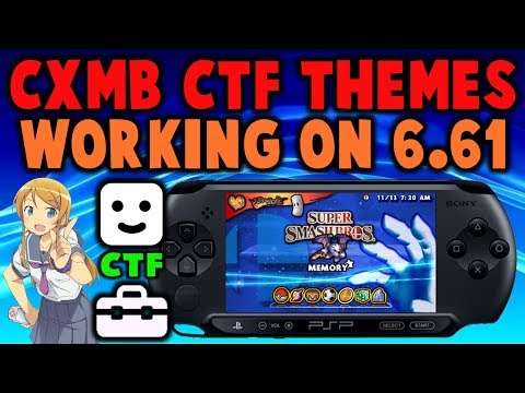 CXMB CTF Themes For PSP Infinity 6.61 - 6.60!